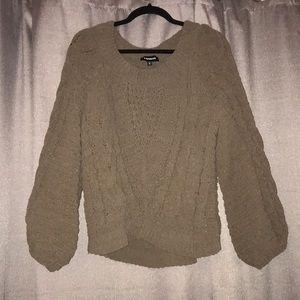 Balloon Sleeve Chunky Sweater